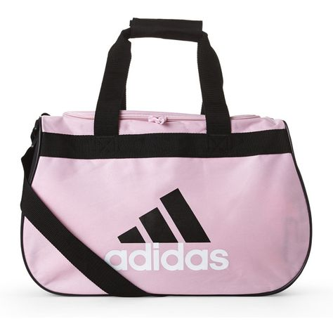382d60467a Adidas Pink   Black Diablo Small Duffel ( 9.99) ❤ liked on Polyvore  featuring bags and luggage