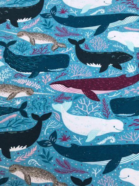 Kinderstoffe Jersey Wale Ocean Dwellers Artwork