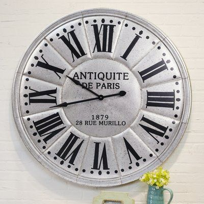 Ophelia Co Oversized Spilsby Wall Clock Paris Wall Clock Wall Clock Oversized Wall Clock