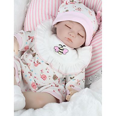 """Details about  /18/"""" Handmade Sleeping Baby Silicone Rebirth Baby Doll Waterproof Boys Xmas Gift"""