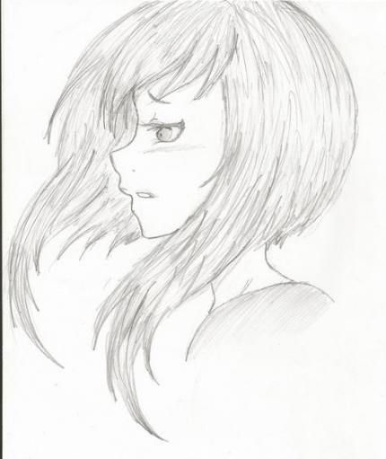 Drawing Hair Side View Anime Girls 61 Ideas Anime Side View Girl Face Drawing Side View Of Face