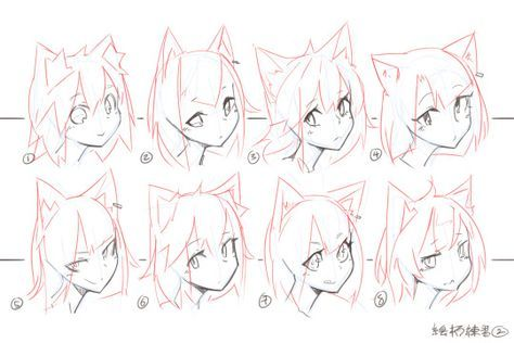 How To Draw Anime Cats Ears 63 Ideas In 2020 Anime Drawings Tutorials Manga Drawing Tutorials Drawings