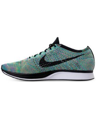 Nike Unisex Flyknit Racer Running Sneakers from Finish Line - Green 9.5
