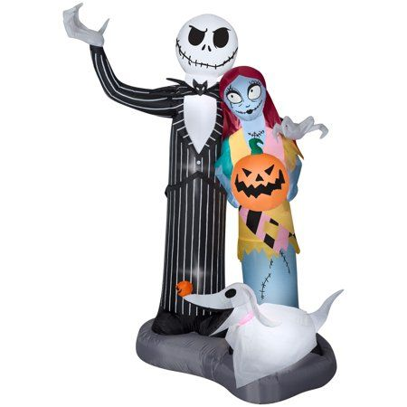 Nightmare before Christmas inflatable lawn decorations