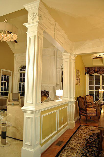 Column Dividers On Pinterest Half Walls Columns And