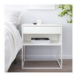Vikhammer Nightstand White 23 5 8x15 3 8 White Nightstand Bedroom White Bedside Table Bedroom Bedside Table