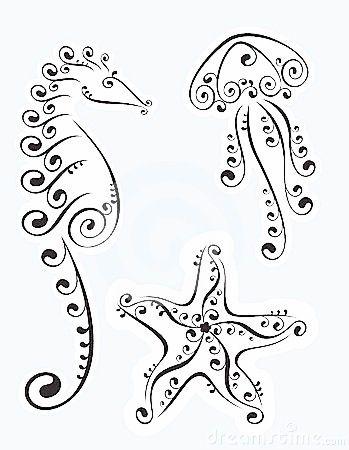 Sealife doodles ☾ ✩ pinterest// magickbohemian