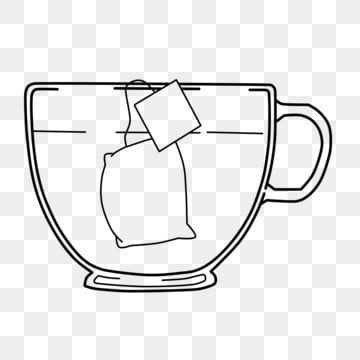 Line Tea Bag Teacup Black Tea Teacup Tea Bag Png Transparent Clipart Image And Psd File For Free Download Clip Art Tea Bag Tea