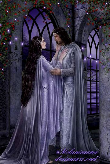 Eternal Love by Melanienemo on DeviantArt. This is a great depiction of Aragorn & Arwen.