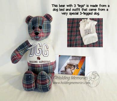 McCalls Sewing Pattern L9547 ML9547 Stuffed 18 Easy Bear Vest Memory Bear