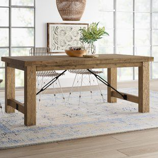 One Allium Way Kara Extendable Solid Wood Dining Table In 2020