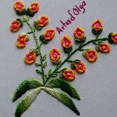 En este video te muestro cómo bordar flores en puntada anillo. . . . . #artesdeolga #artesdolga #bordado #flores #puntada #puntadas #bordados #videos #tutoriales #diy