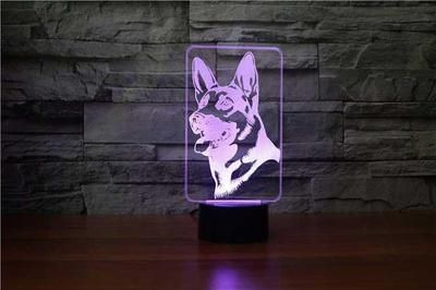 German Shepherd 3d Illusion Lamp Lampeez 3d Illusion Lamp 3d Illusions German Shepherd