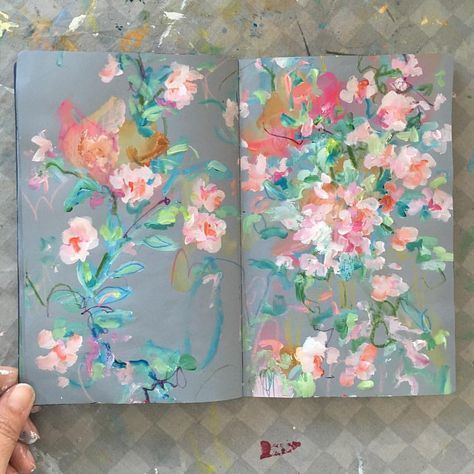 today's sketchbook . . . . #painting #sketchbook #abstractflowers #dsfloral #dscolor #carveouttimeforart #spring #inspiredbynature…