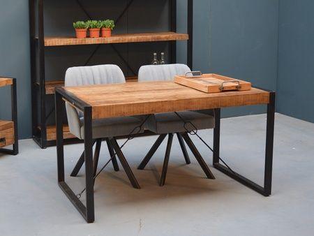 Table De Repas Pekan 2 En Manguier Massif Et Metal Meuble De Qualite Table Repas Table Manguier
