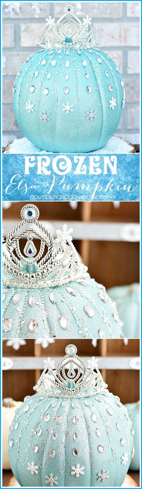 DIY Frozen Elsa Pumpkin from #MichaelsMakers @crystalowens