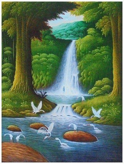 23 Lukisan Pemandangan Gunung Sederhana Lukisan Pemandangan Gunung Dan Sungai Gunung Yang Terletak Di Perbatasan Prefek Di 2020 Pemandangan Lukisan Lukisan Cat Air