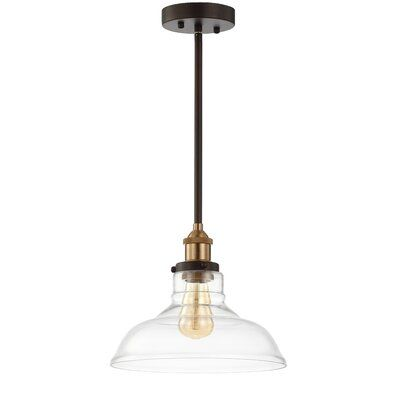 Williston Forge Shanley 1 Light Dome Pendant | Glass pendant