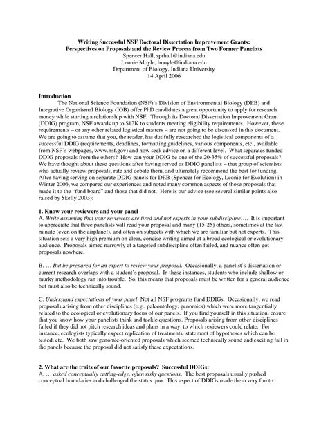 NSF Grant Proposal Sample Writing Successful NSF Doctoral - writing last minute research paper