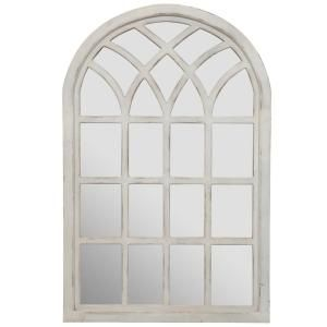 Pinnacle Farmhouse Cathedral Windowpane Arch Antique White Wall Mirror 18fp1419e The Home Depot Mirror Wall Mirror Wall Living Room Mirror Gallery Wall