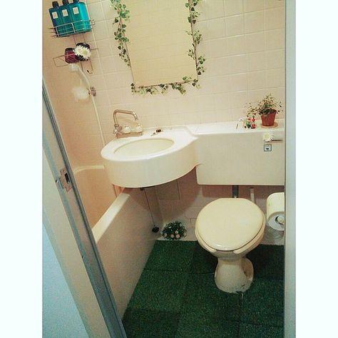 バス トイレ 一人暮らし セリア 植物 フェイクグリーン などの