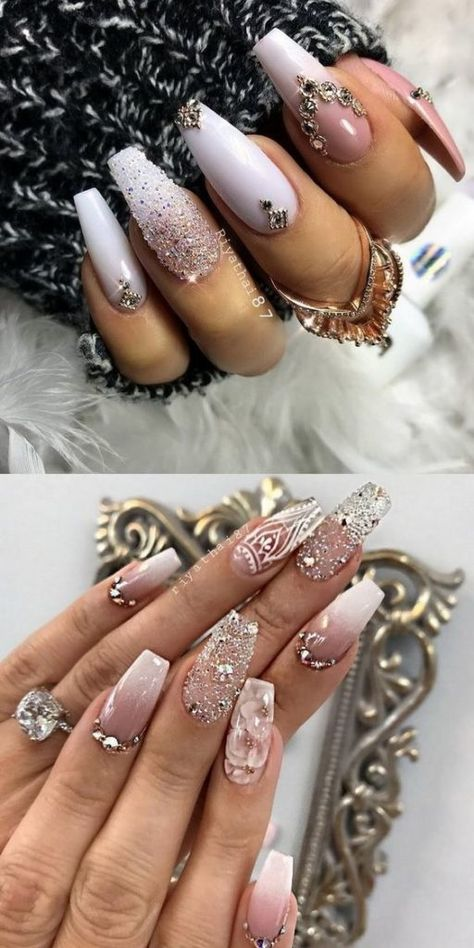 36 Trendy as well as Appealing Marble Coffin Nails Design – Page 21 – My Beauty Note