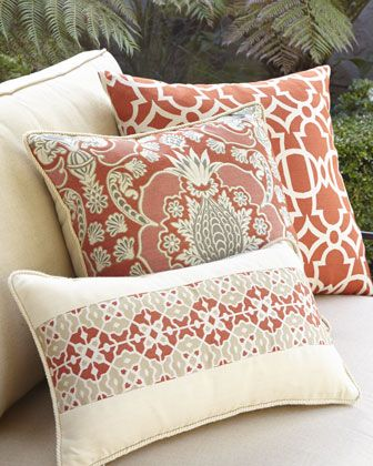 Caribbean Inspired Outdoor Pillows By Elaine Smith At Neiman Marcus