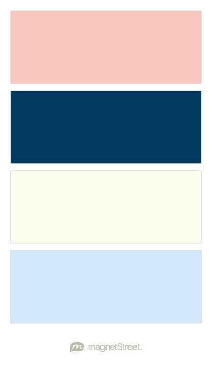 Light Salmon Navy Ivory And Icy Blue Wedding Color Palette Custom Color Palette Cr Coral Colour Palette Color Schemes Colour Palettes Peach Color Palettes