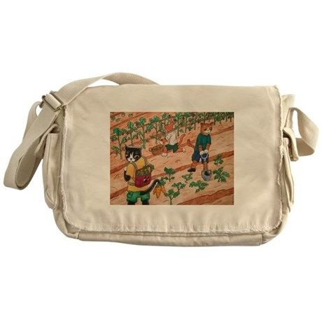 Summer Harvest Messenger Bag by Acrylic-Cats - CafePress Backpack Bags, Tote Bag, Gardening Vegetables, Side Bags, Fun Funny, Retro Outfits, Types Of Fashion Styles, Aesthetic Clothes, Fitness Fashion