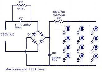 Leds From 230v Ac Led Projects Electronic Circuit Projects Led Matrix