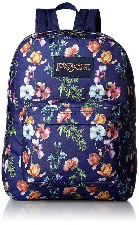 c536c6db1e3 Jansport Superbreak Backpack ( T501 ) - Multi Navy Blue mountain Meadow