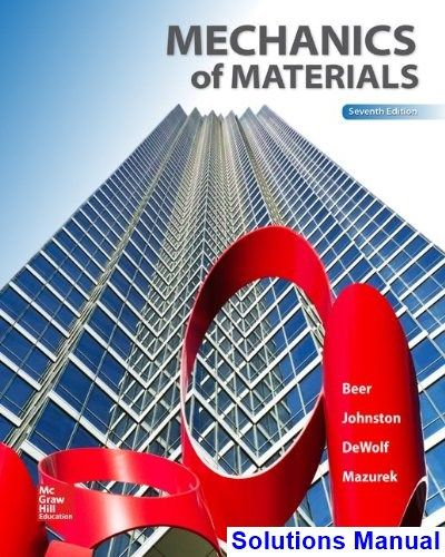 Solutions Manual For Mechanics Of Materials 7th Edition By Beer Ebook Mcgraw Hill Education Mechanic