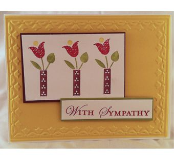Bright Blossoms/Loving Thoughts sympathy card