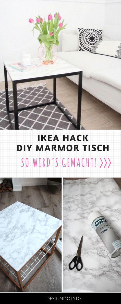 DIY Beistelltisch mit Marmorplatte: Ikea Hack DESIGN DOTS