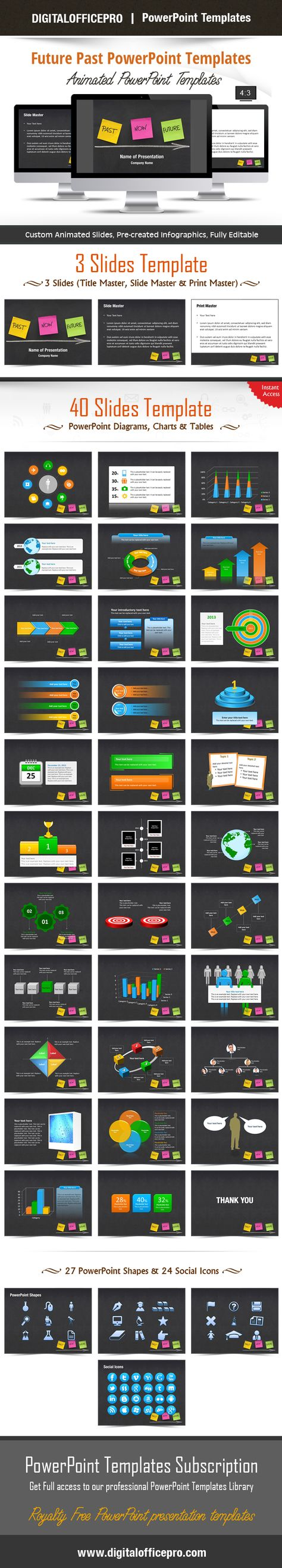 Future Past Powerpoint Templates Come With A Set Of Powerpoint Diagram.