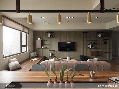 展翼翱翔 剛中帶柔的單身型男部屋 Living Room Tv Wall Living Room