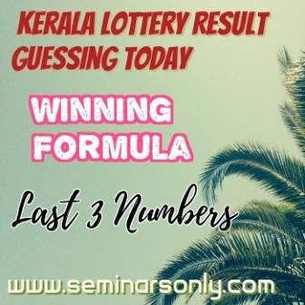 Kerala Lottery Guessing Today Last 3 Number Lottery Lottery