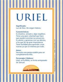 Nombre Uriel Significados De Los Nombres Imágenes De Nombres Origen De Los Nombres