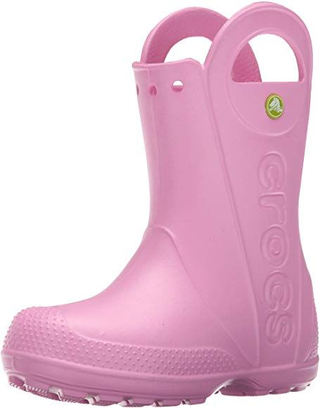 Easy On for Toddlers Lightweight and Waterproof Boys Crocs Kids Handle It Rain Boot Girls