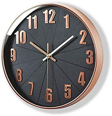 Amazon Com Rose Gold Wall Clock Mixart Silent Non Ticking 12 Inch Quality Quartz Battery Operate Copper Kitchen Decor Copper Kitchen Accents Copper Kitchen