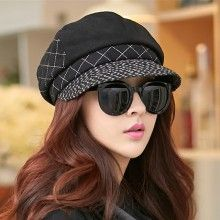 2cf6dd2b433 Wool beret hat for women outdoors casual winter hats
