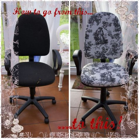 How To Re Cover An Ugly Office Chair | Crafts, Reupholster Furniture And  DIY Furniture