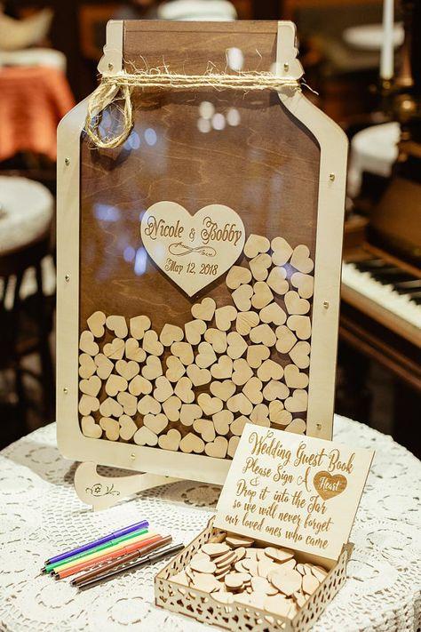 Mason Jar Wedding Guest Book Wedding Guest Book Alternative