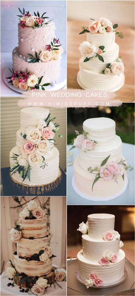 Top 20 Simple Pink Wedding Cakes for Spring Summer