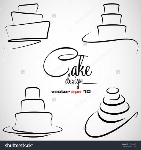 Stock Vector Cake Design Symbol Set In Vector Format 153716387g