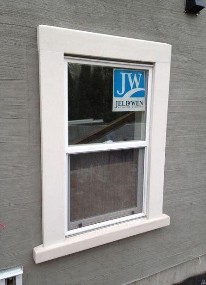 Farmhouse Exterior Stucco White Trim 42 Ideas Window Trim Exterior Windows Exterior Exterior House Remodel