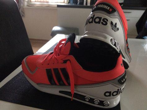 Adidas LA Trainer II neon rot   Trendy sneakers, Adidas ...