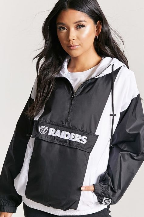 the latest ea7dd 4b532 Forever 21 NFL Raiders Graphic Anorak Jacket | Products