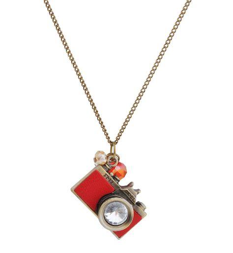 Jane Stone Collier Chaine Pendentif Appareil Photo Cute Femme Bijoux Mode Couleur Rouge: Amazon.fr: Bijoux
