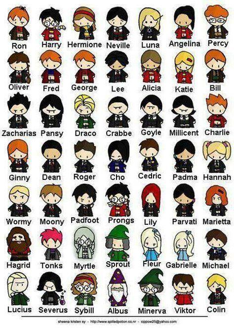 Pin By Reanna Triantafyllou On Art Harry Potter Cartoon Harry Potter Artwork Harry Potter Characters